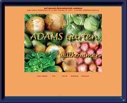 Adams Garten Internet-Auftritt