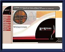 LosVinos Internet-Auftritt mit Online-Shop