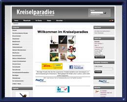 Kreiselparadies Präsentation mit Online-Shop